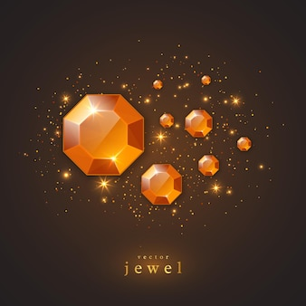 Joias de ouro, diamantes e luzes brilhantes.