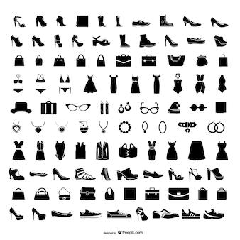 Jóias e roupas vector principal