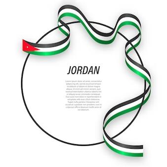 Jordânia 3d com bandeira nacional.