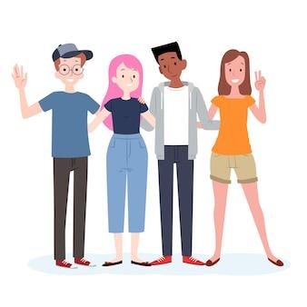 Jornada da juventude com pessoas