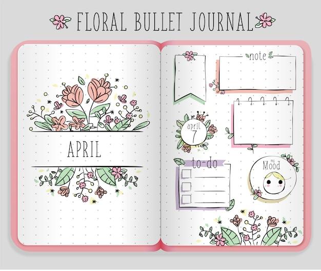 Jornal de bala floral
