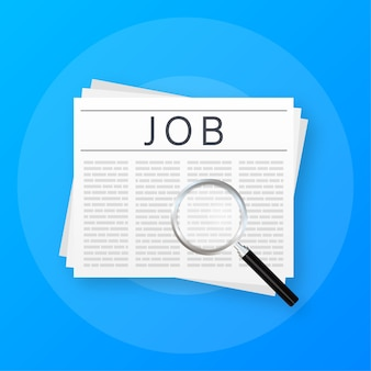 Jornal de procura de emprego. entrevista de recrutamento
