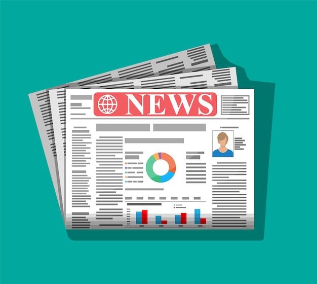 Jornal diário com manchete colorida