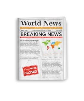 Jornal diário com notícias de última hora