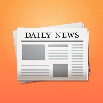 Jornal diário notícias manchete imprensa conceito de mídia de massa