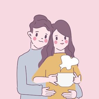 Jovem casal fica em casa
