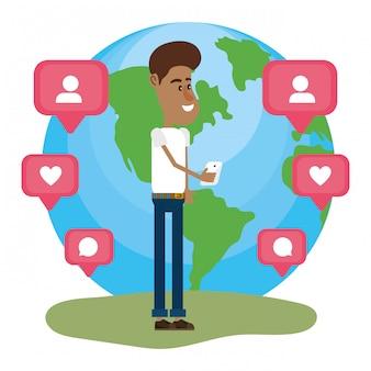 Jovem e redes sociais
