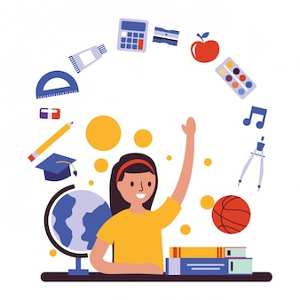 Jovem, estudante, participar, classe