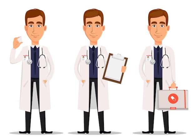 Jovem médico profissional