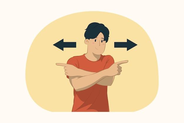 Jovem mostrando o conceito de polegar para cima