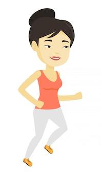 Jovem mulher correndo.