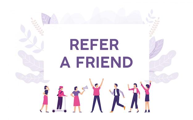 Jovem oferece referências para seus amigos e eles estão interessados