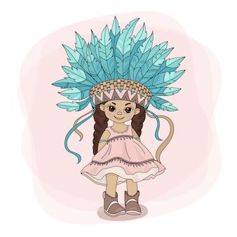 Jovem pocahontas princesa herói indiana