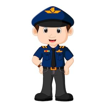 Jovem policial dos desenhos animados