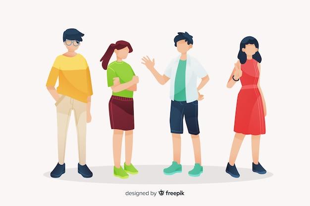 Jovens a passar tempo juntos