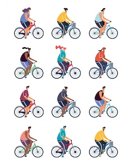 Jovens andando de bicicleta usando máscaras médicas