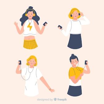 Jovens dançando na música