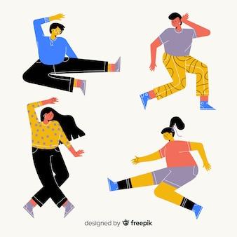 Jovens dançando