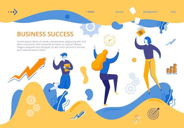 Jovens garotas do grupo alegram sucesso nos negócios
