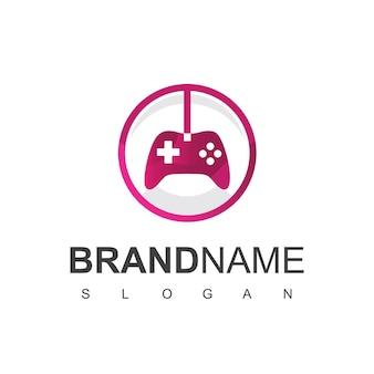 Joy stick, modelo de design de logotipo de jogo