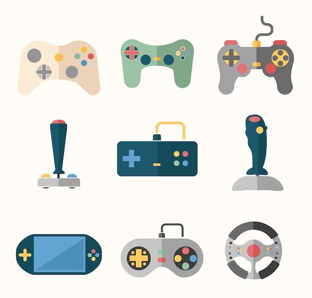 Joysticks definidos em estilo simples.