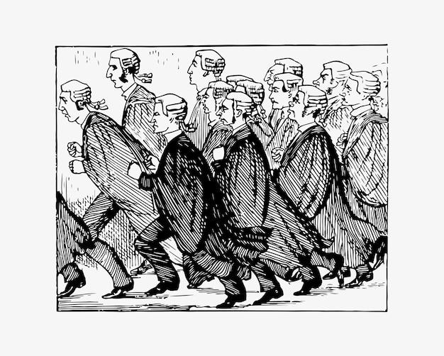 Juízes correndo para o bar
