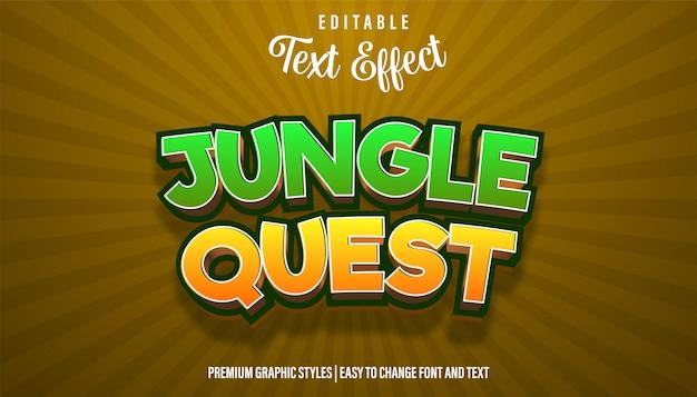 Jungle quest game title efeito de texto editável
