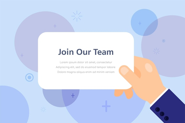 Junte-se à nossa equipe de recrutamento de ilustração do conceito de recurso humano