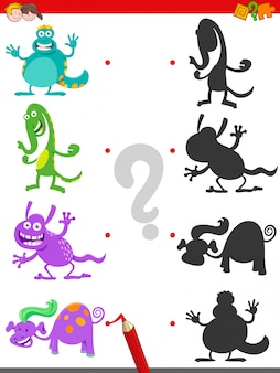 Junte-se ao jogo shadows with pictures para crianças