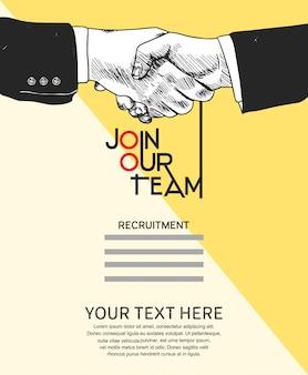 Junte-se ao nosso cartaz de conceito de equipe