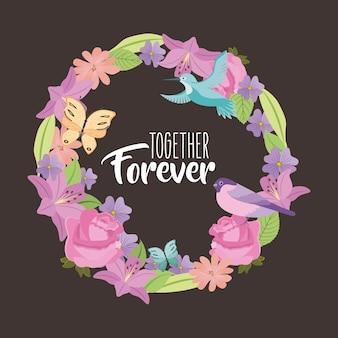 Juntos para sempre cartão