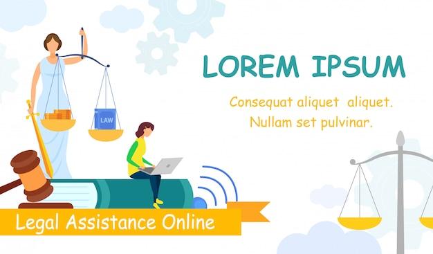 Jurisprudência college web banner vector template