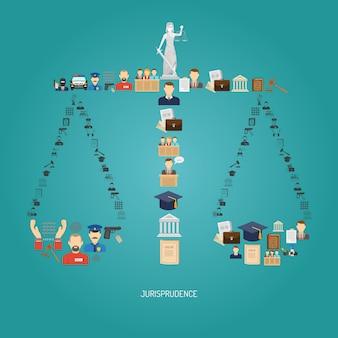 Justiça concept flat