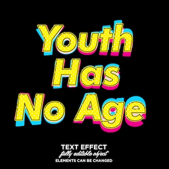 Juventude estilo pop art font effect