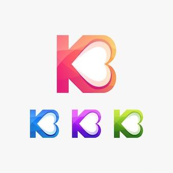 K amor alfabeto inicial romântico