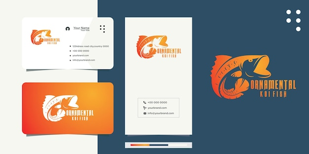 K oi fish ideias e designs de cartões de visita