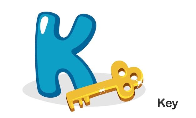 K para chave