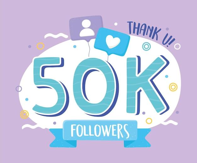 K seguidores obrigado