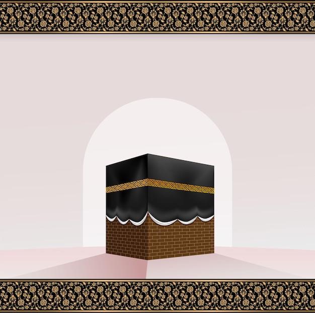 Kaaba realista islâmica para hajj (peregrinação) na meca