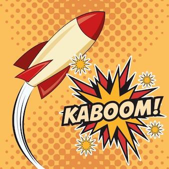 Kaboom explosão pop art comic design