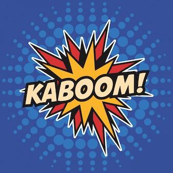 Kaboom stars pop art