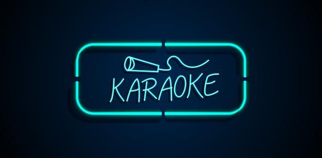 Karaoke sinal de néon