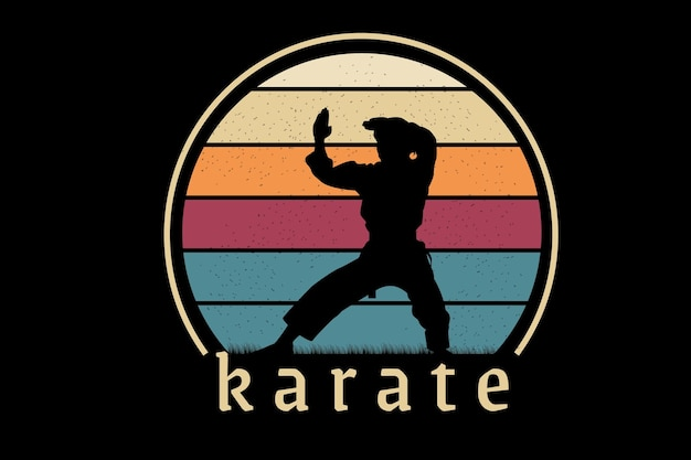 Karate cor amarelo laranja e verde