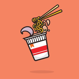 Kawaii cute ramen noodle cup