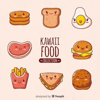 Kawaii food hand drawn collection