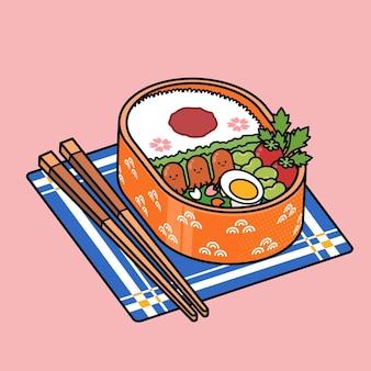 Kawaii umeboshi bento lancheira japonesa