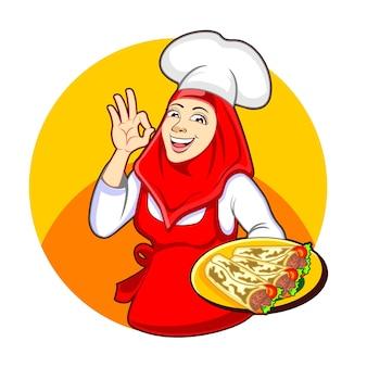 Kebab de frango turco
