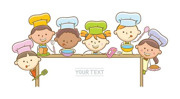 Kid chefs e whiteboard