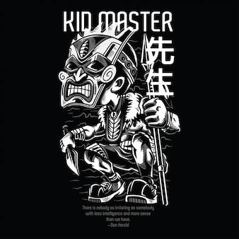 Kid master preto e branco