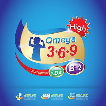 Kids omega calcium and vitamin